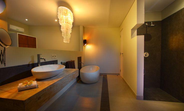 Unik Villa, in Brawa Bali, master bedroom open to bathroom