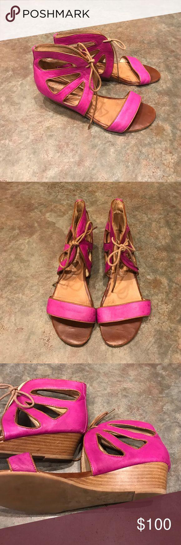 Jeffrey Campbell sandals Roller. Fuschia. Still in great shape! Jeffrey Campbell Shoes Sandals