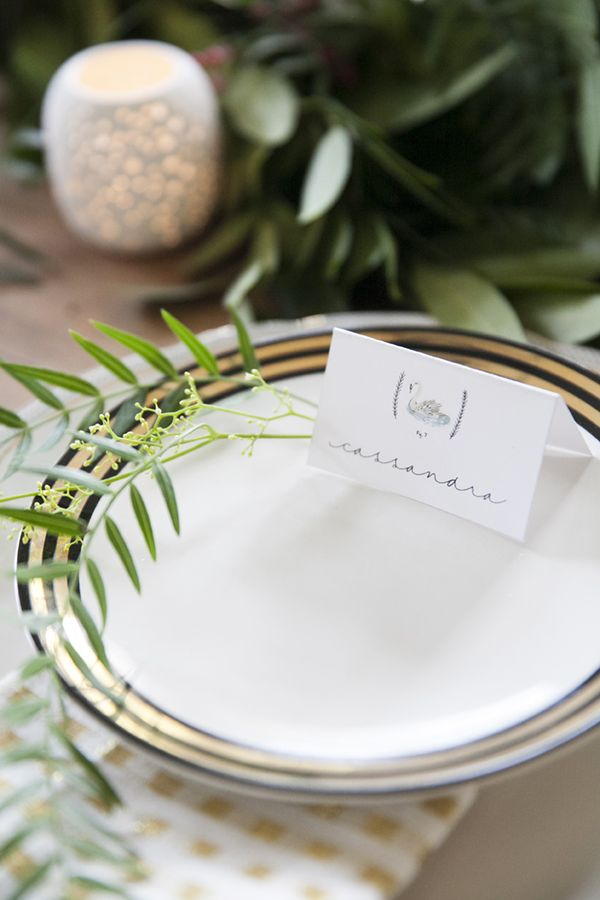 twelve days of christmas tabletop setting by coco+kelley