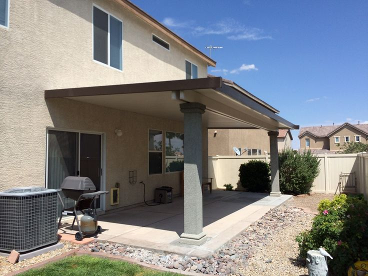 Hereu0027s An Insulated Patio Cover With Stucco Columns. The Posts Will Be  Matched To The
