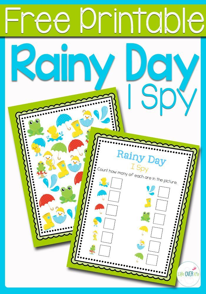 This Rainy Day I Spy is the perfect introduction to the rainy days of April for your preschoolers!Practice counting, matching, and visual discrimination while building language skills to familiarize them with words that they will be hearing during the be