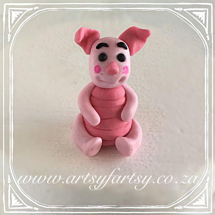 Piglet Sugar Figurine #pigletcaketopper