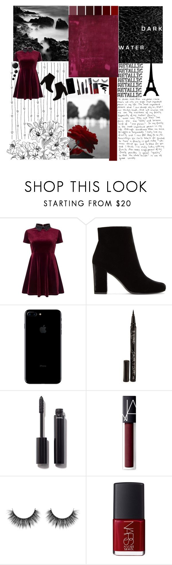 """""""Silence is just another word for my pain"""" by melany007 ❤ liked on Polyvore featuring Miss Selfridge, Yves Saint Laurent, Smith & Cult, Chanel and NARS Cosmetics"""