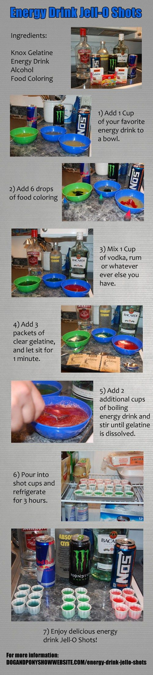 How To Make Red Bull Jell-O Shots - omg sylvia!!! Max would freak. Lol!