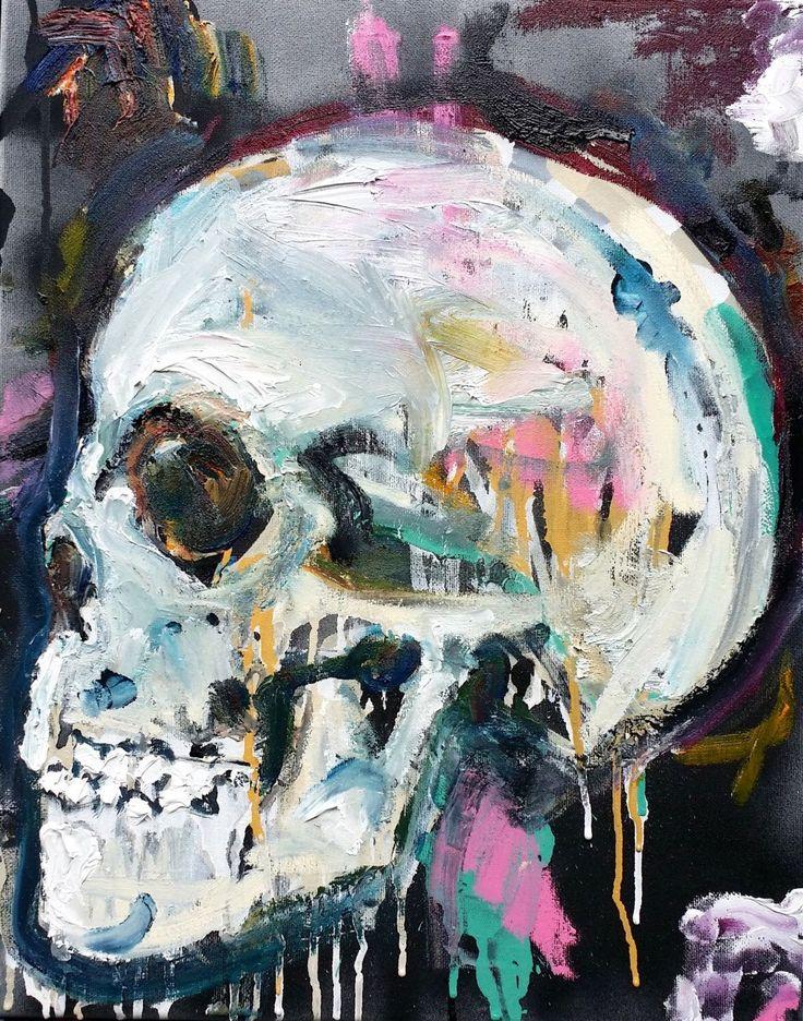 Skull Oil Painting by artist Matt Pecson