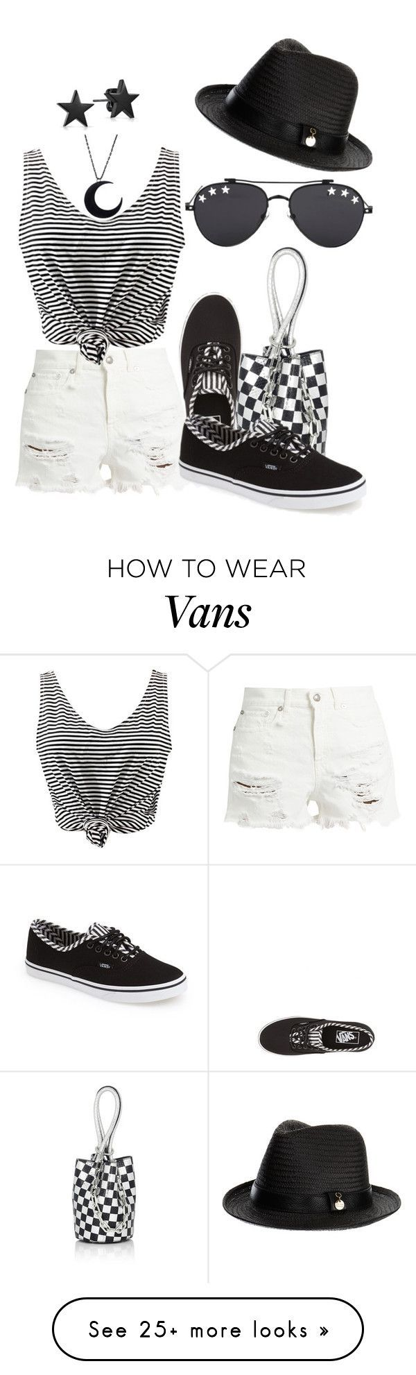 """Cool Vans Shoes """"Denim and Stripes - 05.2017"""" by louvillia on Polyvore featuring R13, ..."""