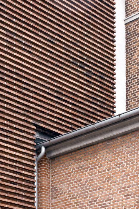 brick detailing old + new contrast / HC Ørstedsværket Transformer Station / Gottlieb Paludan Architects