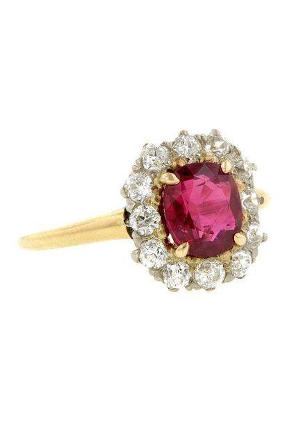 30 Dream Engagement Rings For The Anti-Diamond Girl #refinery29  http://www.refinery29.com/engagement-rings-diamond-alternatives#slide-16
