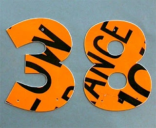 Recycled House Number!