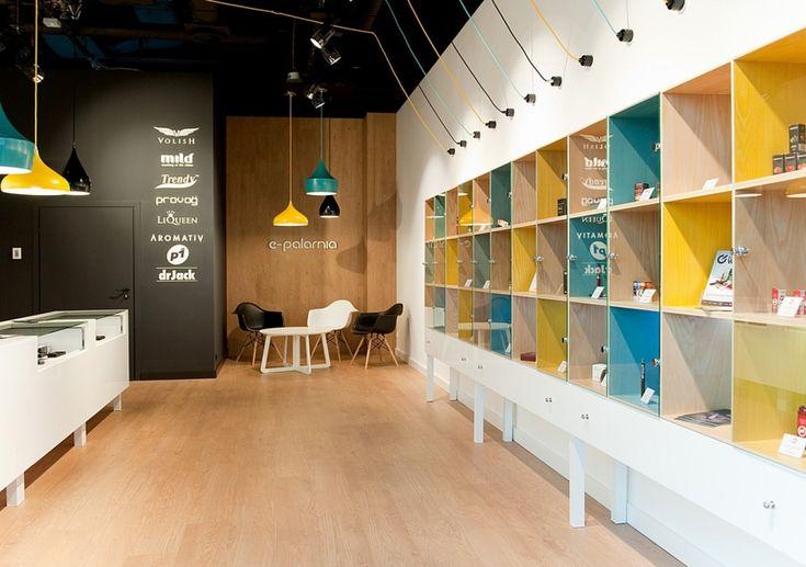 MANSO – Projekt sieci sklepów z e-papierosami | KDesign Architekci projekt biura, projekty sklepów, projekty restauracji