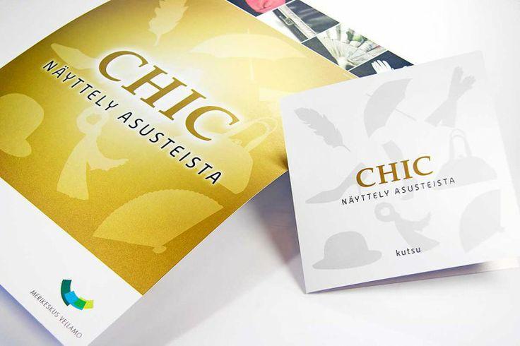 Chic – poster and invite.  Intro Design.