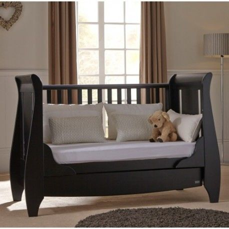 This Cot Bed is made of solid wood. The children's furniture cot bed has a fixed side cot, this cot bed has smooth panels with a smooth lovely finish and is designed to grow with your little one easily converting into a junior bed. Suitable from birth up to approximately 6 years Converts into a junior bed with drawer underneath Three position bed base Fixed side cot  Dimensions are :  Length : 162 cm Width: 76 cm Height : 108 cm