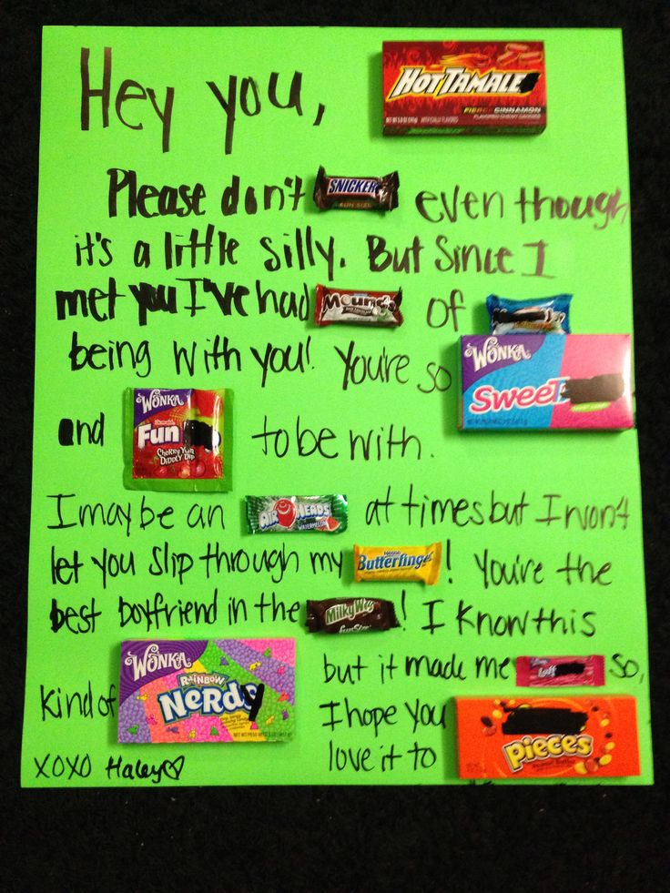 Candy letter for the boyfriend :)