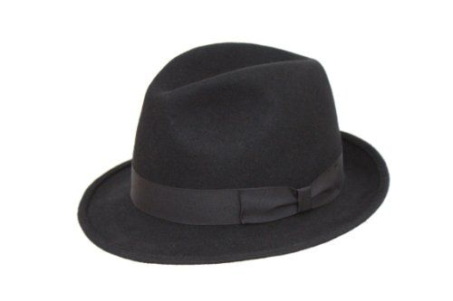 135 kr. Men's Black Wool Trilby Fedora Hat The Hat Outlet http://www.amazon.co.uk/dp/B00D42BU4G/ref=cm_sw_r_pi_dp_-mi3wb080XG1F