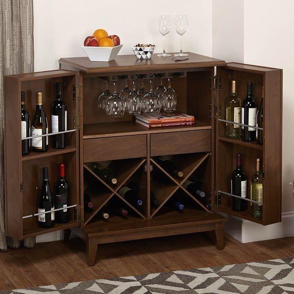 Simple Living Lexington Wine Cabinet Cave A Vin Lexington Noyer