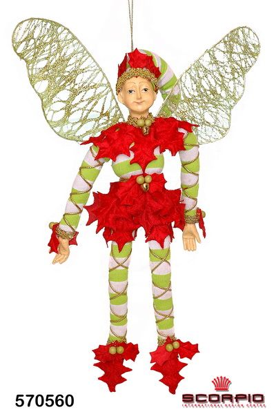 #Эльф «Рождественский» декоративный, 27 см,  580 грн можно заказать на сайте #scorpio http://www.scorpio.ua/