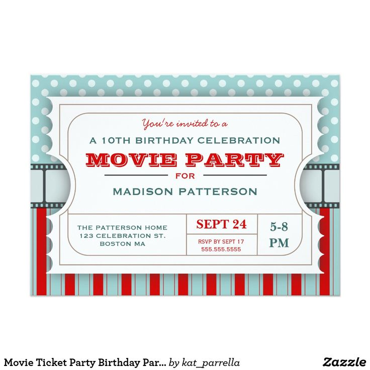 17 best Birthday images on Pinterest Birthday invitations - movie ticket invitations template