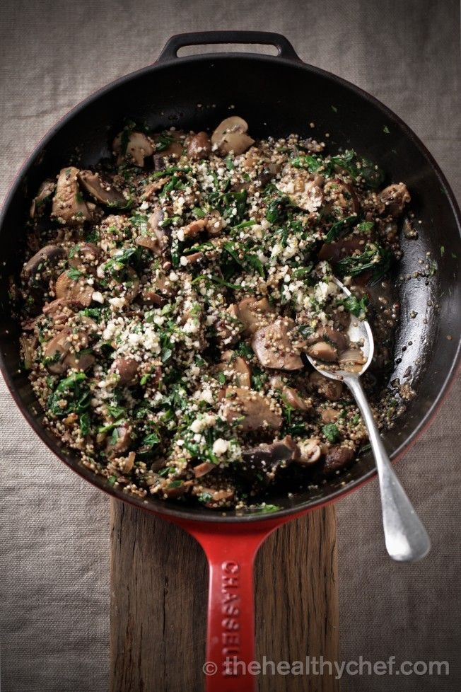 mushroom + quinoa risotto with brazil nut parmesan