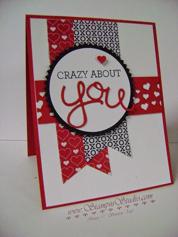 Stampin' Studio, Stampin' Up! Occasions Catalog 2015, Crazy About You, Hello You Thinlits, Stacked with Love DSP, Confetti Heart Border