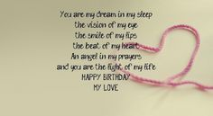 Happy Birthday my love images and quotes