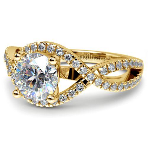 Cross Split Shank Diamond Engagement Ring in Yellow Gold http://www.brilliance.com/engagement-rings/cross-split-shank-diamond-ring-yellow-gold