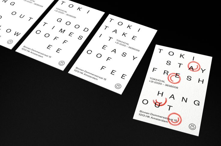 TOKI cafe Amsterdam. Print design by HarrimanSteel