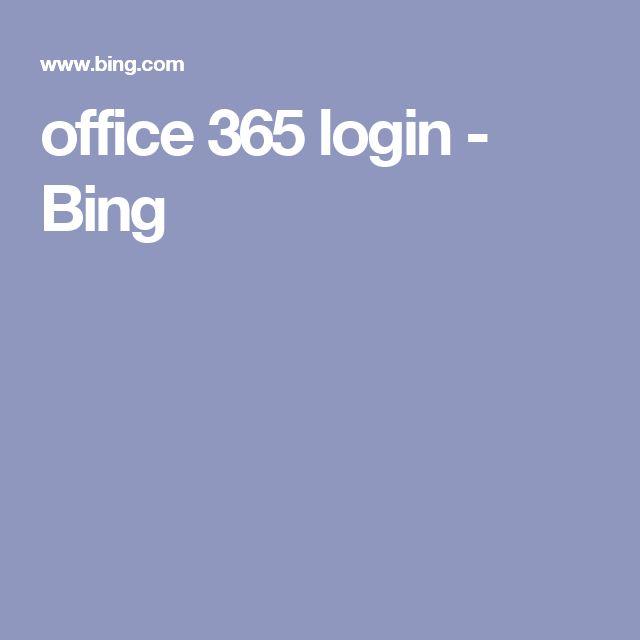 office 365 login - Bing