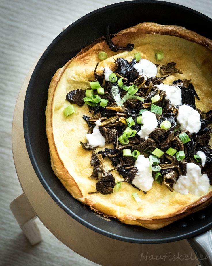 Sienipannukakku, mushroom pancake