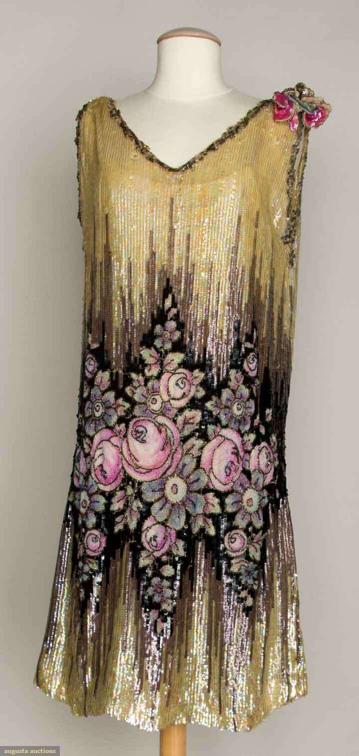 Sequined & Beaded Dress, 1920s, Augusta Auctions, November 13, 2013 - NYC, Lot 334