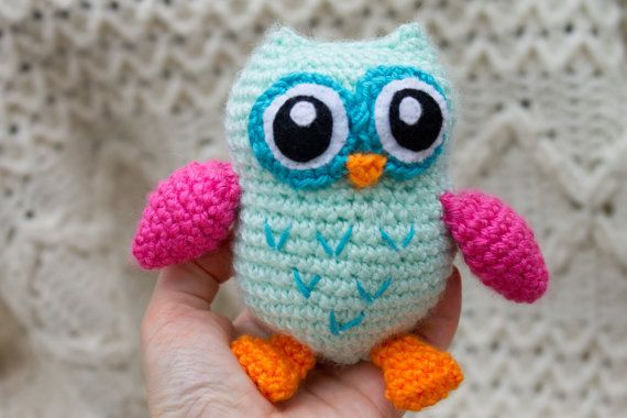 Owl Stuffed Animal Choose Your Colors by TheFadedWildflower