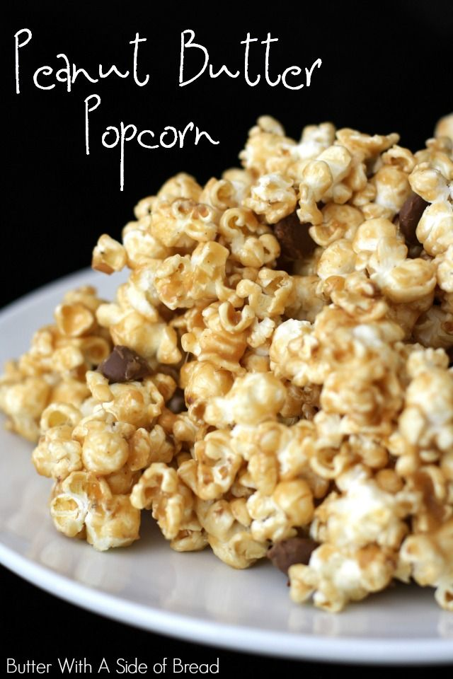 Peanut Butter Popcorn~ this #recipe is killer! Love how easy it is to make gourmet-tasting popcorn!  Butter With A Side of Bread