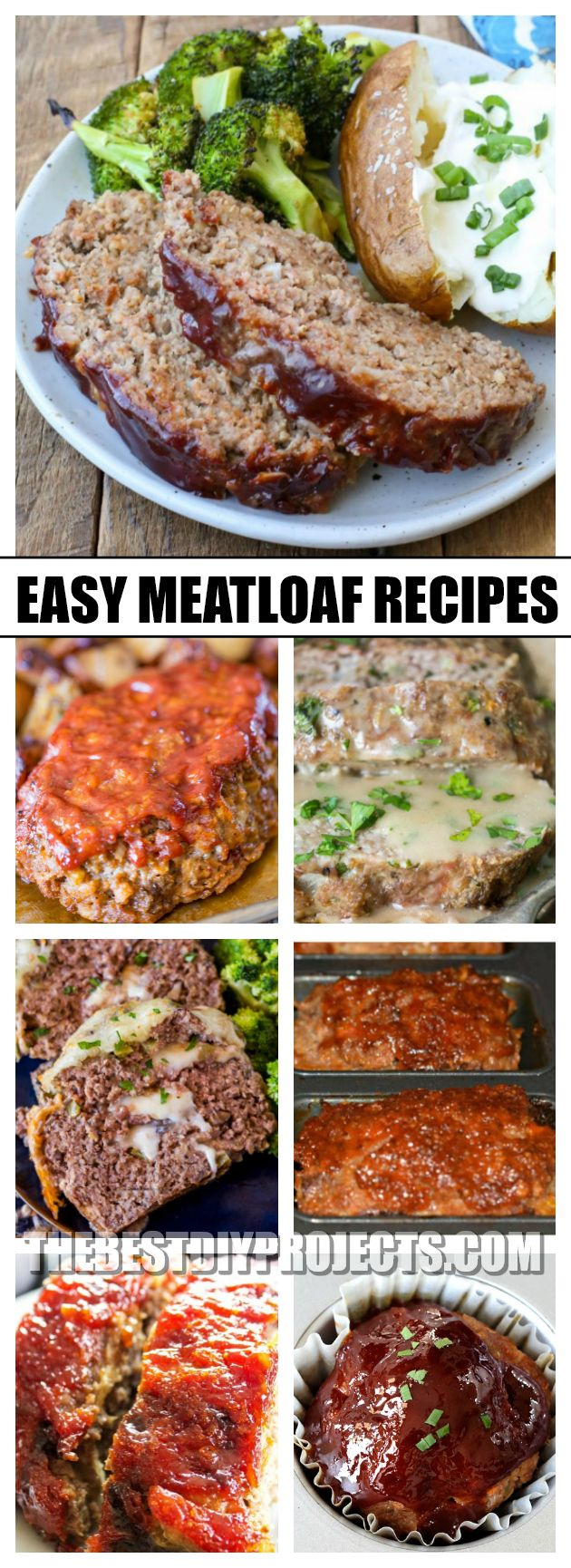 These super easy to make Meatloaf Recipes are the perfect weeknight dinner option for busy families! They come out of the oven tender, juicy, and are packed with delicious flavor!