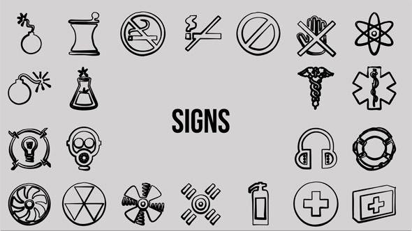 500 Hand Drawing Symbols