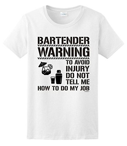 Don't Tell Me How To Do My Job Funny Bartender Short-Sleeve New Style Crew Neck Tee Shirts For Women