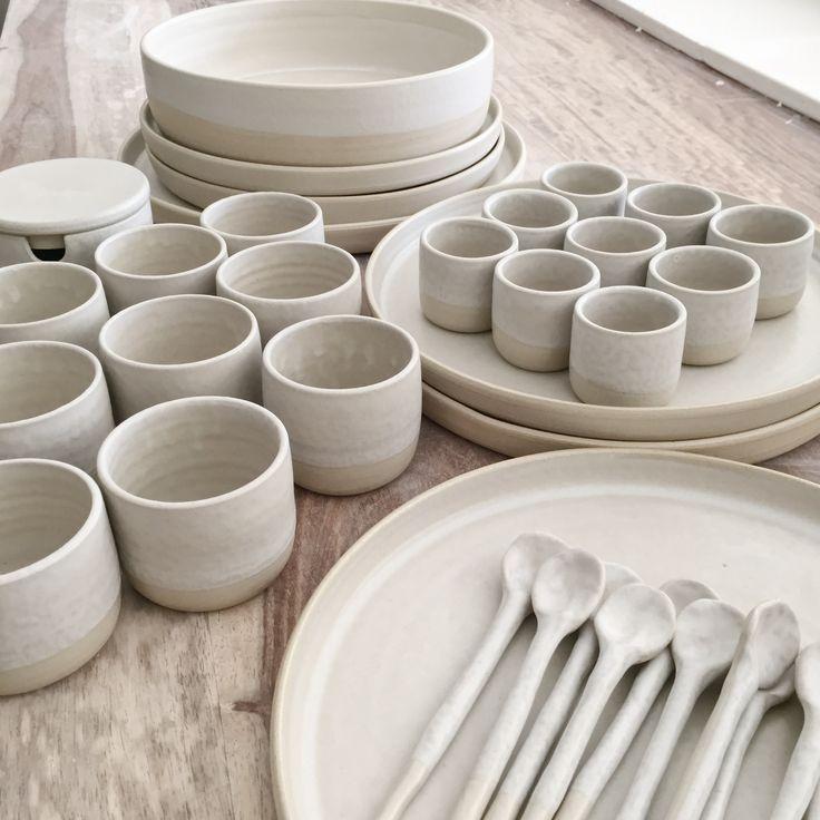 By Annemieke Boots Ceramics stoneware  - tableware - bisque fired