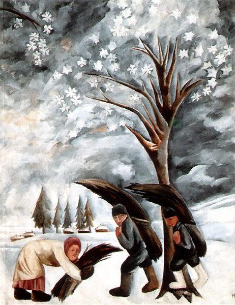 гончаров зима сбор хвороста