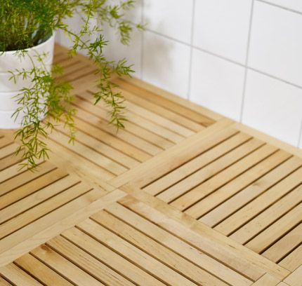 Molger Decking From Ikea For Upstairs Bathroom