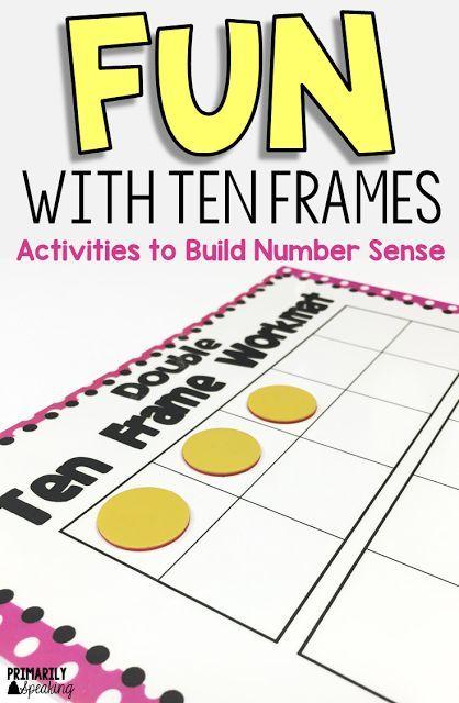 FREE Ten Frame mats plus engaging ten frame activities to build number sense
