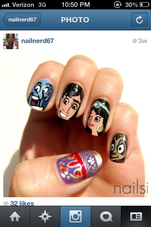 65 best Disney/character nail designs images on Pinterest