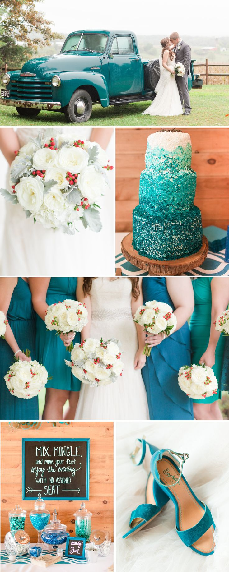 (Less Teal, More Blue But Just As Vibrant!) A Teal Inspired Shenandoah  Valley Wedding In Luray Virginia By Katelyn James Photography