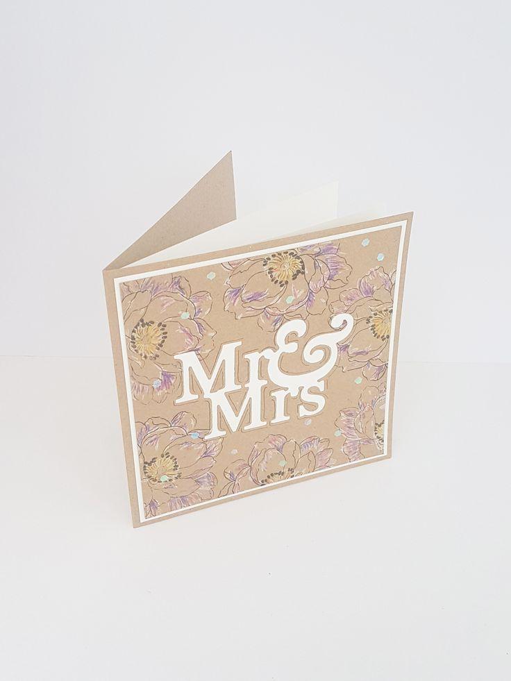 fun  unique boho style wedding congrats card made with