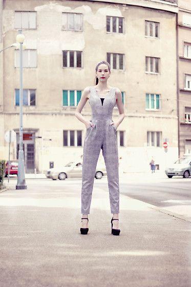 More looks by Tea&Tina Sisters: http://lb.nu/tinaandtea  #elegant #formal #minimal #simple #woman #business #work #playsuit #suit