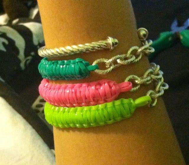 Diy Tutorial Cobra Sch Lanyard Bracelet With Chain Plastic Lace Pinterest And