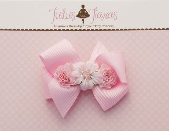 Pretty in Pink Bitty Baby Rose Hair Clip - 4256