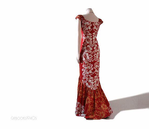 Vintage 60s HAWAIIAN Dress Hola Muu Fishtail Mermaid Wedding - Best 25+ Hawaiian Dresses Ideas Only On Pinterest Hawaii Dress