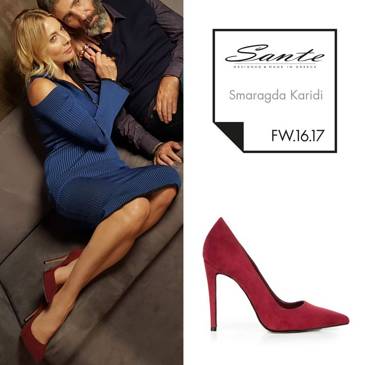 Smaragda Karidi (@smaragda_karidi_official) in SANTE Pumps styling by Agis Panagiotou (@agis_panagiotou) #SanteFW16 #CelebritiesinSante Available in stores & online (SKU-94161): www.santeshoes.com