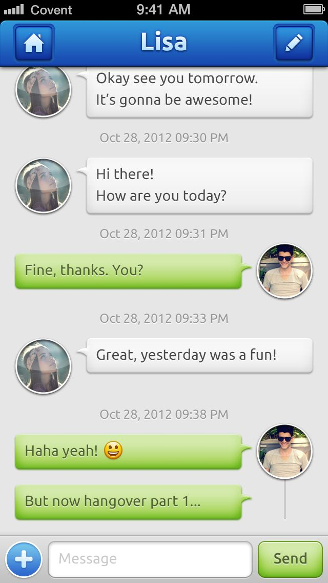 Chat iphone app