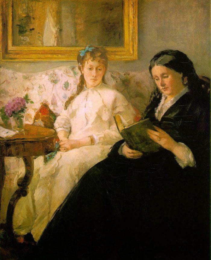 La lecture, 1869-70, by Berthe Morisot