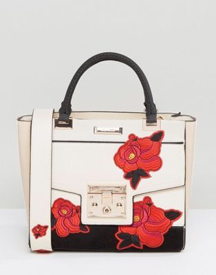 River Island Embroidered Tote Bag