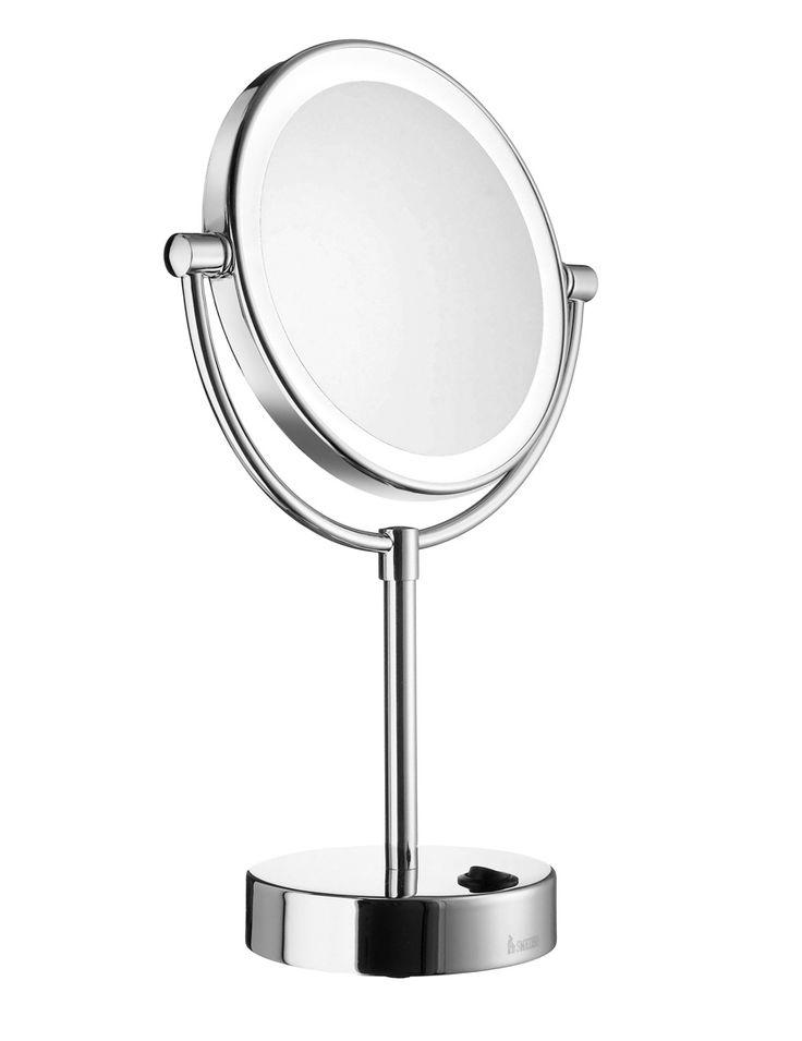 Smedbo Outline kosmetikspejl til bord m. Dual-lys og LED